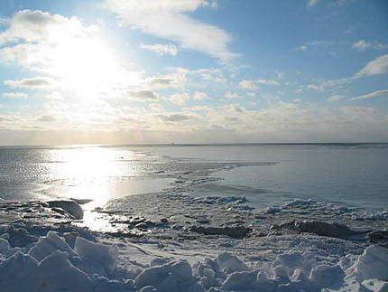 На море зимой красота новости