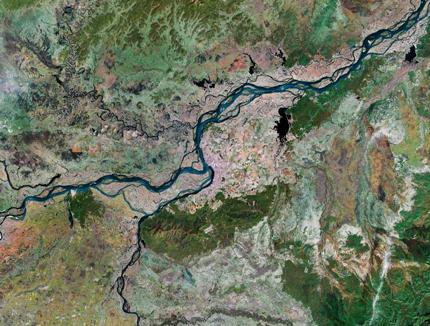 Слияние реки уссури с амуром вид со