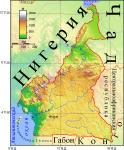 Карта Камеруна