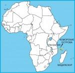 Коморские острова на карте мира