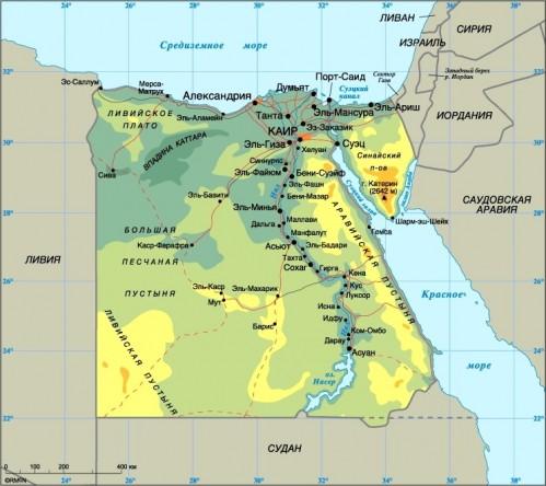 Карта джибути