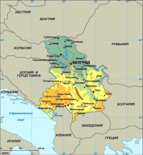 Карта сан марино