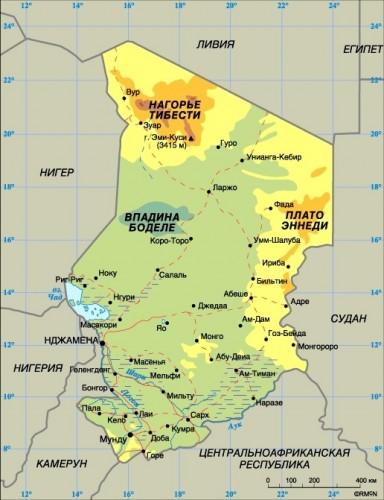 Карта центральноафриканской