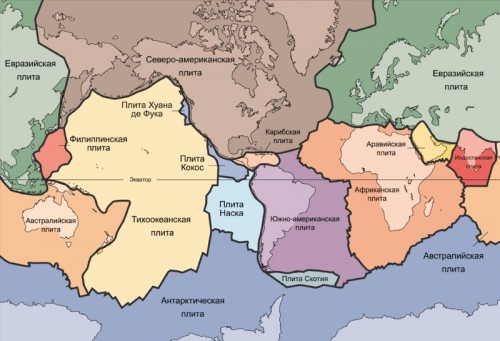 материков и океанов Происхождение материков и океанов