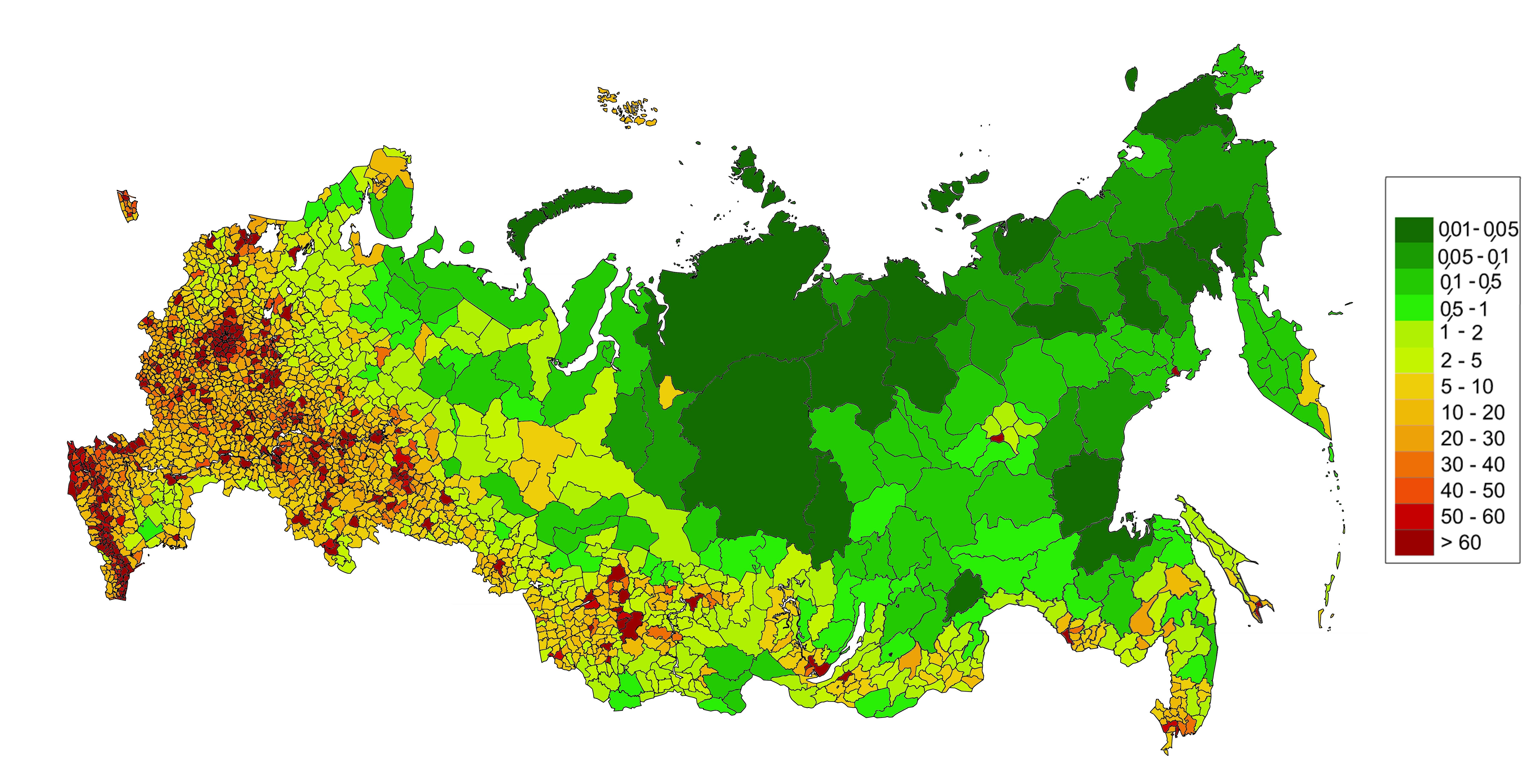 Какую часть материка занимает россия