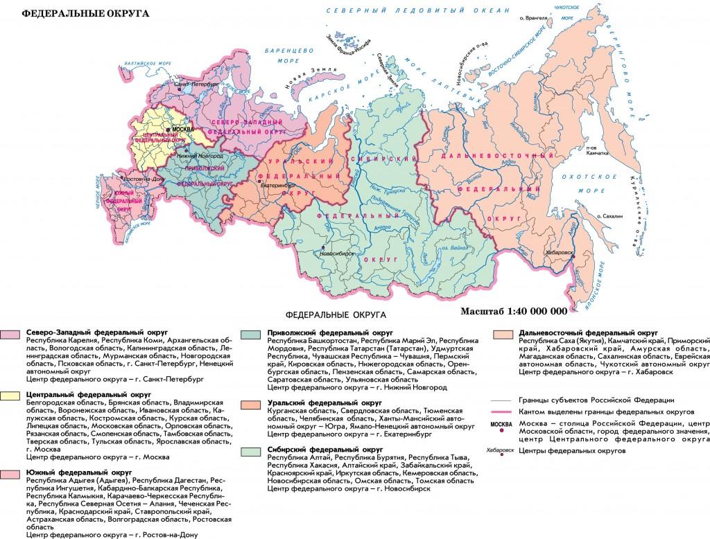 федеральные округа шпаргалка