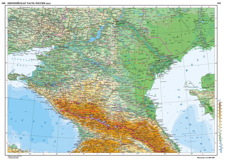 Карта Юг России