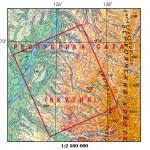 Карта Верхоянский хребет