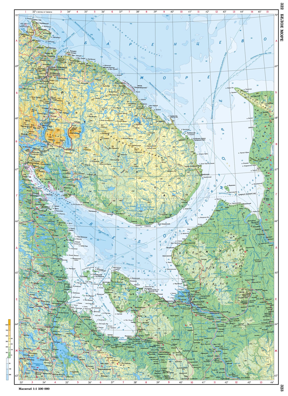 Белое море на карте фото