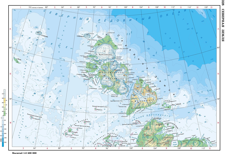 Карта карское море карта новая земля