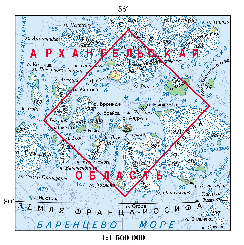 земля франца-иосифа карта онлайн
