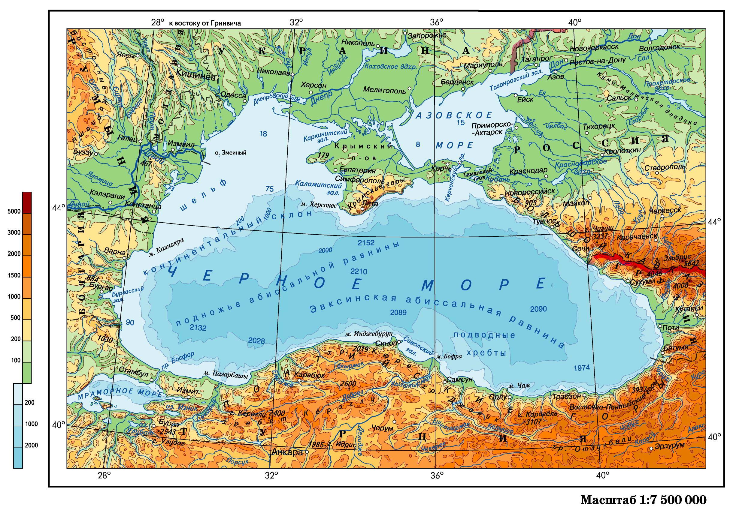 Где черное море находиться