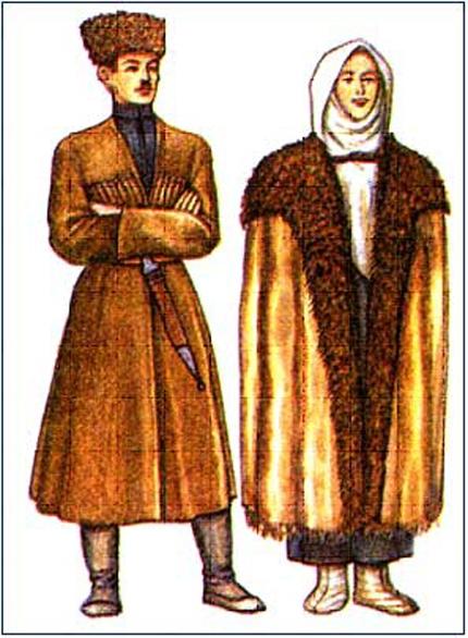 сиреневый даргинский национальный костюм фото мужской и женский оформления