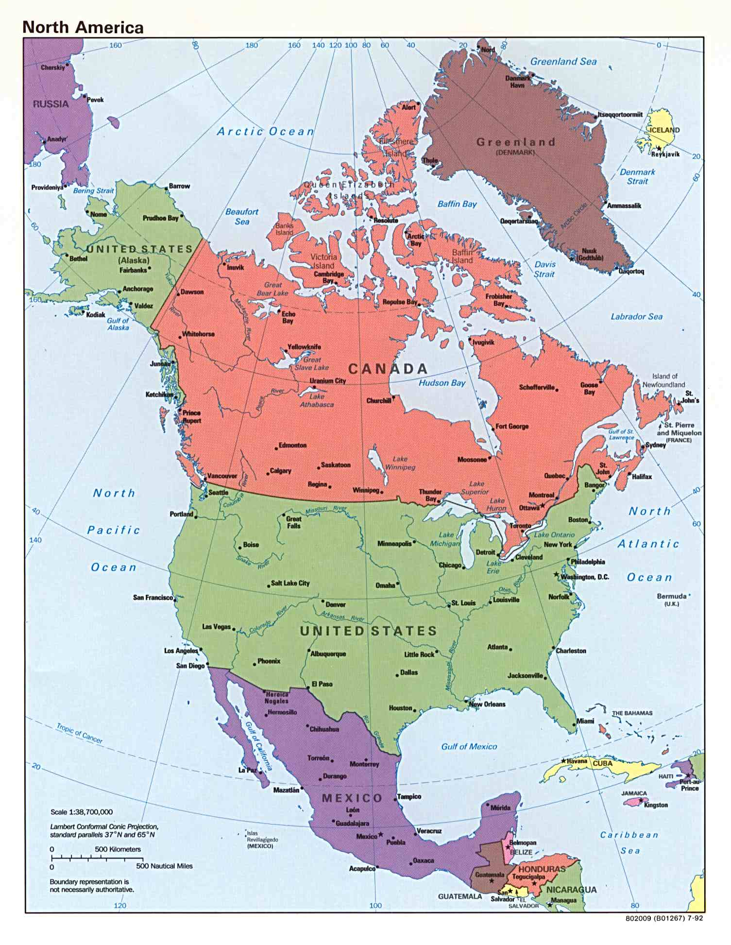 Northamericajpg - What countries are in north america