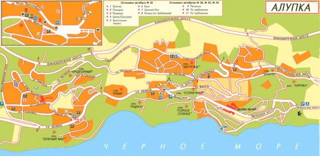 Карта Алупка