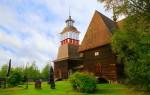 Старая церковь в деревне Петяявеси (Финляндия)