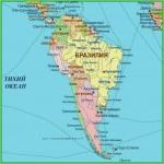 Географическое положение Южной Америки